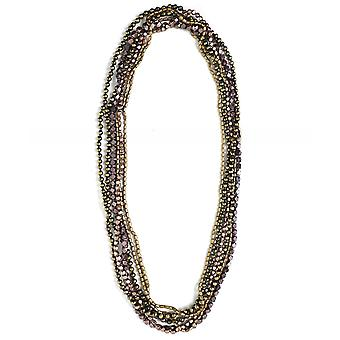 Jianhui Multi Strand Contrast Beaded Necklace