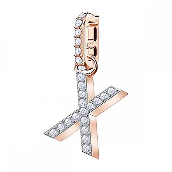 Swarovski Remix Rose Gold Tone Plated & White Crystal Letter X Charm