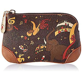 piero guide Cosmetic Bag Pochette from Women's Day (Brown) 13x5x2 cm (W x H x L)