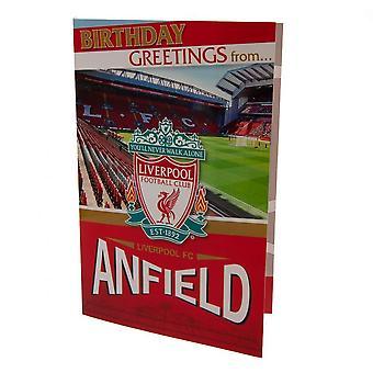 Liverpool FC pop-up fødselsdag kort