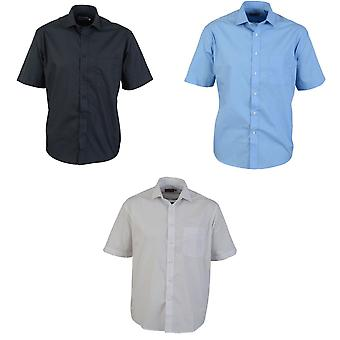 Absolute Apparel Mens Short Sleeved Classic Poplin Shirt