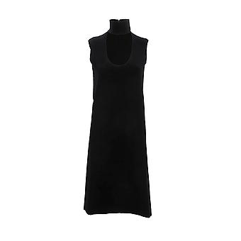 Bottega Veneta 571956vkba01000 Women's Black Viscose Dress