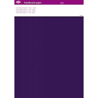 Pergamano Translucent Paper Purple A4 150 gsm 5 Sheets