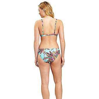 Féraud 3205076-16576 Women's Blue Ethno Feather Non-Padded Underwired Bikini Set