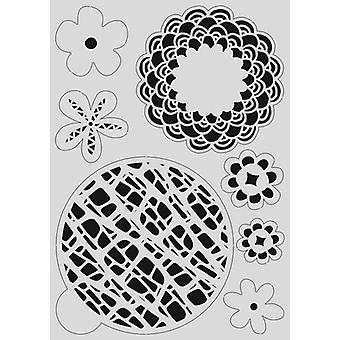 Estêncil da Máscara pronty - Gel flor 470.803.040 - A4