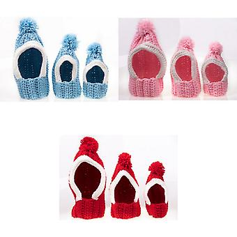 Michi Knitted Pom Pom Hat For Dogs