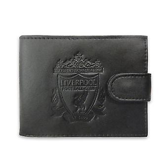 Liverpool FC Official Football Gift Boxed Leather Wallet Embossed Crest