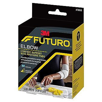 Futuro elbow comfort support with pressure pads, moderate, medium, 1 ea