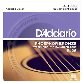 D'Addario Acoustic Custom Light 11-52