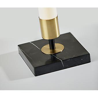 """6"""" X 6"""" X 30"""" Black Metal LED Table Lamp"""