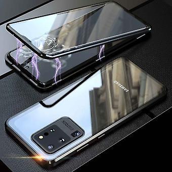 Kaksipuolinen 360 asteen magneetti / lasikotelo kotelo puhelimen kotelo puskuri musta Samsung Galaxy S20 Ultra G988F