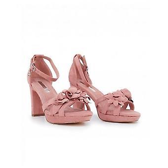 Xti Block Heel Flower Detail Sandals