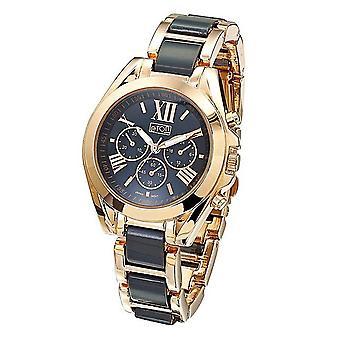 Eton fashion Watch, Grey Plastic/R Gold metal link bracelet Watch 3109J-GY