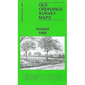 Anfield 1908: Lancashire folha 106.07 (mapas antigos de O.S. de Lancashire)