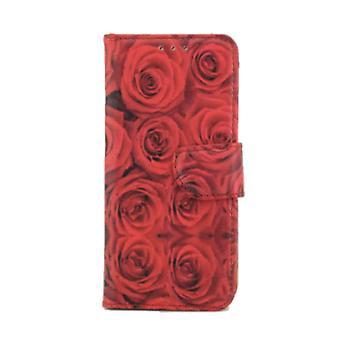 Bücherregal Fall rote Rosen Samsung Galaxy A3 (2017)