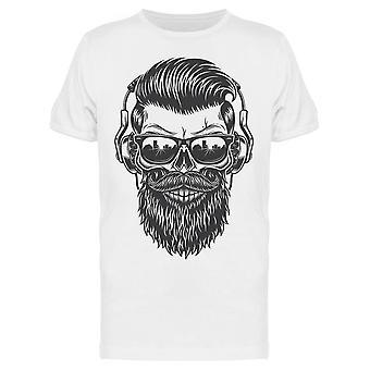 Monochrome Skull Beard Tee Men's -Image by Shutterstock
