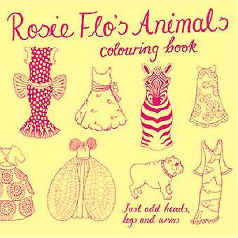 Rosie Flo's Animals Colouring Book - yellow by Roz Streeten - 9781870