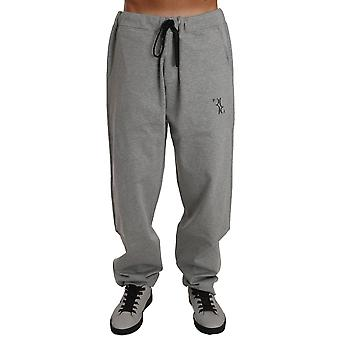 Gray cotton sweater pants tracksuit a55