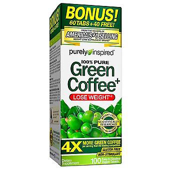 Purely inspired 100% pure green coffee, veggie tablets, 100 ea