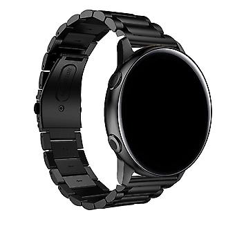 Galaxy Watch Active2 40mm Strap Steel Link Chain Butterfly Clasp- Black