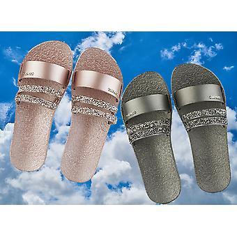 Coloko Moonbeam Jewelled Sliders Sandals