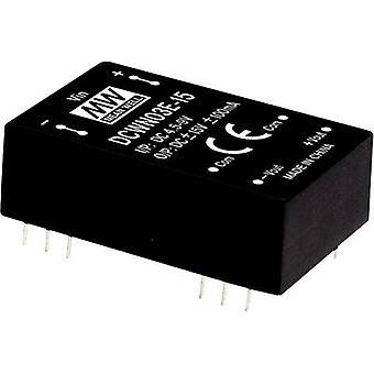 Mean Well DCWN03B-05 DC/DC converter (module) 300 mA 3 W No. of outputs: 2 x