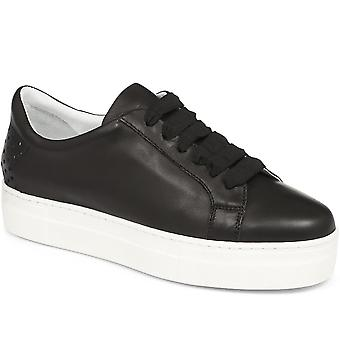 Jones Bootmaker Womens Leona Suede Lace-Up Trainer