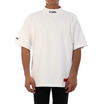 Reiger Preston Hmaa021f20jer0010110 Men's White Cotton T-shirt