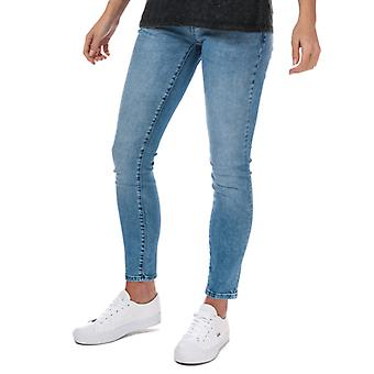 Women's Only Coral Life Super Low Skinny Jeans in Blue