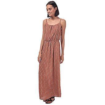 Women's Only Nova Lux Polka Dot Maxi Dress in Brown