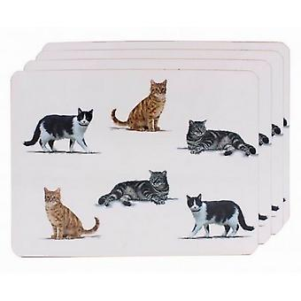 Cats Print Placemats (Set of 4)