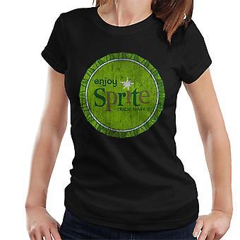 Nauti sprite 1960 Green BottleCap naisten T-paita