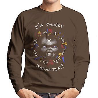 Chucky Im Chucky quiere jugar Cita Hombres's Sudadera
