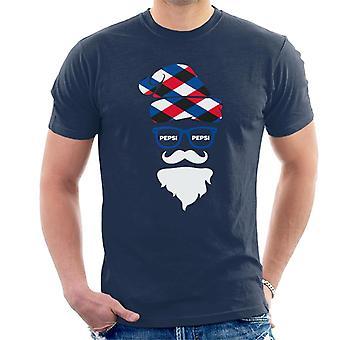 Pepsi Christmas Santa Face Men's T-Shirt