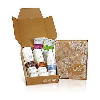 Relax waves gift box: stressed hair shampoo, stressed hair conditioner, sea wave deodorant 1 unit