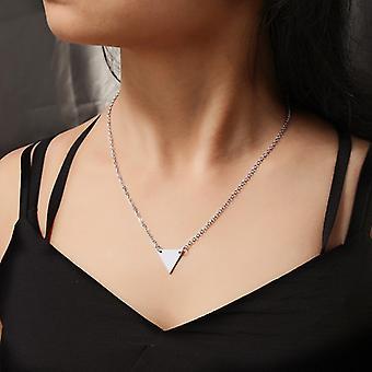 silver triangel hängsmycke halsband