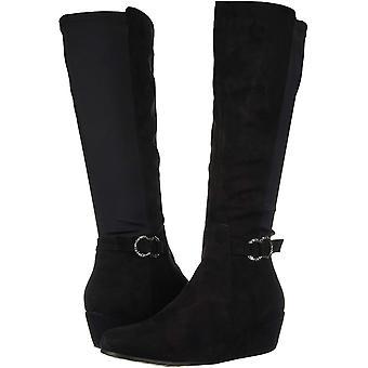 Kenneth Cole reação mulheres ponta vestido boot tecido amêndoa Toe joelho de alta...