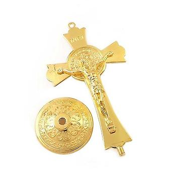 Gold Color Fashion Jesus Catholic Christian Holy Crucifix Ornaments Cross