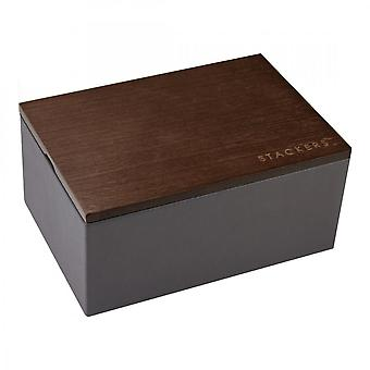 Stackers Mini Charcoal Watch Box With Lid