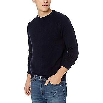 Goodthreads Men's Lambswool Crewneck Sweater, Navy, XXX-Large Tall