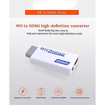 Wii To Hdmi Converter Wii2hdmi With 3.5mm-audio/video Output Automatic Upscaler-adapter Support Ntsc 480i/pal 576i 1080p