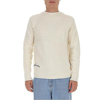 Alexander Mcqueen 626467q1wzv9246 Men's White Wool Sweater