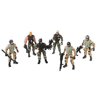 Action Figure Army Soldiers Toy With Weapon Military Figures Child Toy