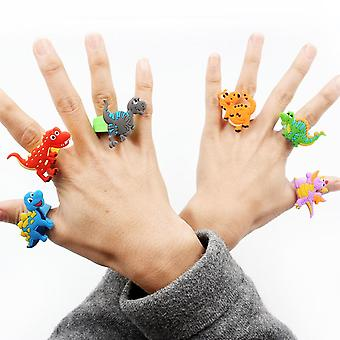 لطيف كارتون ديناصور إصبع خاتم لعبة للأطفال