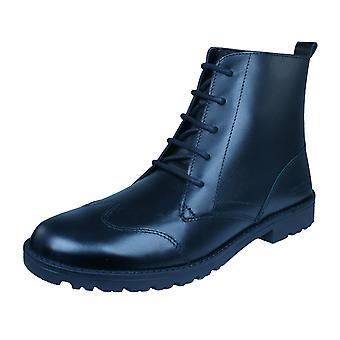 Kickers Lachly Oi botas de couro das mulheres - preto