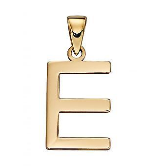 Elements Gold 9ct Yellow Gold E Pendant GP2204