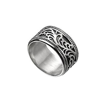 Beginnings Sterling Silver Wide Oxidised Celtic Band Ring R3719