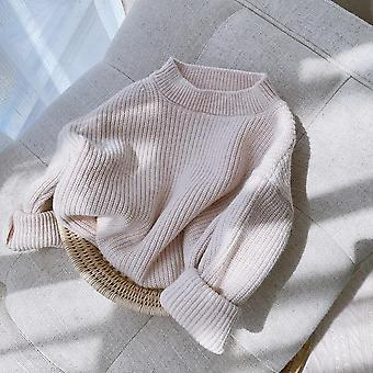 Outono O-neck Loose Casual Pullover Sweater Tops Coat 3m-6y