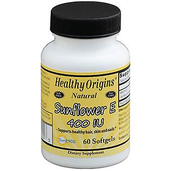 Healthy Origins Sunflower E, 400 IU, 60 Soft Gels