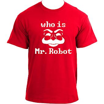 Who is Mr.Robot? Fsociety Hacker Geek TV Show inspired T-Shirt